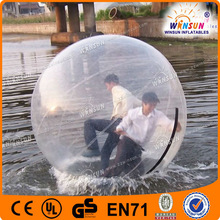 Big air inflated bubble ball water
