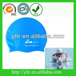 silicone swim cap with printing for triathon