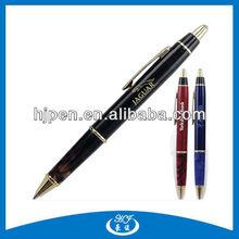 High End Acrylic Grip Click Metal Ball Pen, Promotional Pens Logo