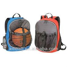 Backpack with basketball mesh bag