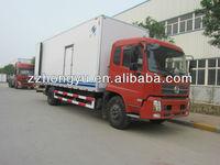 10Tons aluminium dry van truck/dry cago box truck for Coca-Cola ,beverages