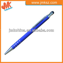 Newest office Jump Stylus ball pen with crystal on pen clip