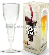 2012 Newest glass inverted beer cup/ Creative beer glass