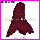 Big acrylic chevron long winter hot fashion knitting scarf shawl