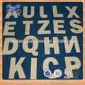 novo barato de madeira inacabada letras alfabeticas atacado