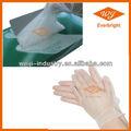De productos médicos desechables guantes de vinilo para& en polvo libre de polvo