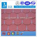 La escala de peces tejas de asfalto/material de construcción del techo del azulejo/a prueba de agua tejas de asfalto