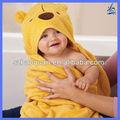 100% رداء حمام الطفل القطن تنفس الحيوان/ الجلباب حمام الاطفال
