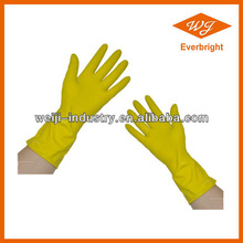 Latex house hold gloves Dip or Spray Flocklined with high quality