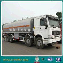 5000Liters fuel tank truck sino truck 8x4 Fuel Tank Trailer truck For Liquid Transportation