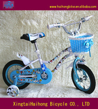2013 Shanghai Fair kid bike,child bike,children bicycle with training wheel basket on sale approved ISO9001