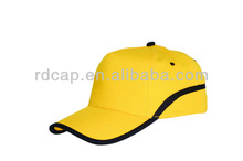 100% cotton twill 2 color combinations 5 panel baseball cap for promotion