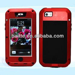 New waterproof design aluminium case for iphone 5
