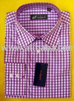 100% cotton men's 60S*60S yarn dye shirt OEM or CMT in factory