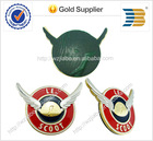 2014 years high quality custom design stick on motorcycle two tone wings pin badge