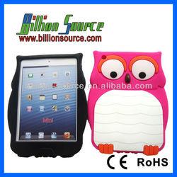 cute animal shape silicone case for ipad mini
