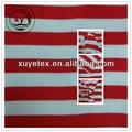 De color rojo y blanco a rayas de tela/sarga piel de melocotón tela para prendas de vestir