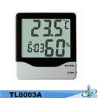Digital LCD Temperature and Humidity Meter For Car Thermometer Hygrometer Clock Alarm Calendar NEW