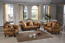 Royal furniture wooden fabric sofa living room furniture