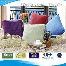 Oeko-Tex 100 Hot Sell Solid Colors 45*45cm Coral Fleece Fabric Home Decorative&Sofa Cushion/Cushion Cover