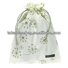Delicate cotton drawstring lady shoe bag
