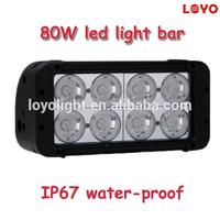 Combinable led bar light for jeep,subaru,4x4 vehicles double row 80w high output led light bar