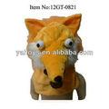 Arancio peluche volpe animale maschere di testa per il partito, animale maschera di halloween con occhi impressionante e rete di design per bambini