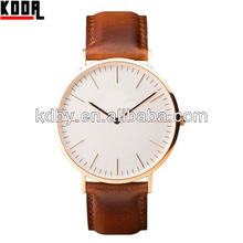 Super slim Classic Mens Brand Wristwatch Leather Or Nylon Band