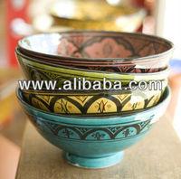 Moroccan Handmade Ceramic Bowl