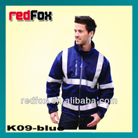 hi-viz reflective safety soft shell jacket