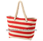 JH canvas rope handle beach bag for women 01