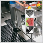 Anti-slip and anti-fatigue interlocking porous rubber floor mat