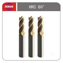Tungsten carbide end mill cutter, hrc60 side & face milling cutter