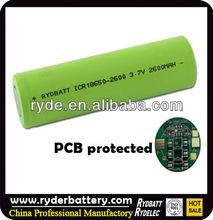 Battery 18650 26650 32650, Protected 18650 li ion battery 3.7v 2600mah