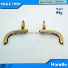light gold bag handle accessory metal handle for bag parts