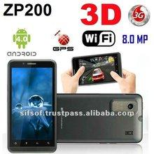 ZP200 Android 4.0 3D Phone 4.3 Inch QHD Screen MTK6575 1.0GHz 1GB RAM 3G HDMI 8.0MP Camera
