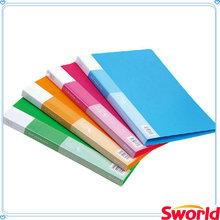 Office supply colorful A4 pp clip folder/plastic file folder/clip file