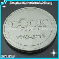 Customized souvenir metal silver coin/round silver coin/custom silver coin with logo