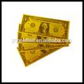 oro foglio di banconote da collezione