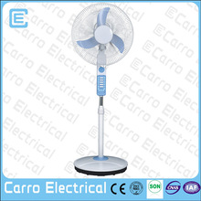 modern new design rechargeable fan with LED lights dc stand luminous fan