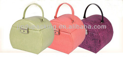 leather jewelry bag with metal locks, jewelry case boxes