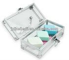transparent small acrylic aluminum cosmetics case