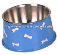 Metal Dog Bowl / fancy dog bowl