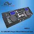 Fuente de la fábrica profesional de audio usb dj reproductor mp3/mezclador/usb tarjeta de sonido