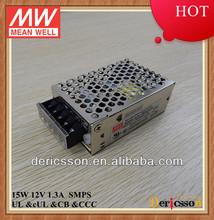 NES-15-12 LED driver transformer Single Output CB CUL UL MEAN WELL15W 12V Power Supply