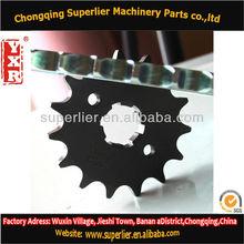 Professional produce bajaj sprocket,XLR125 1045# 14T,420 and 428 suzuki gn125 parts