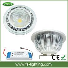 COB LED AR111 QR111 G53 GU10 12V 220V 12W 9W
