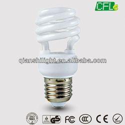 warm white , PCT, CE, FCC, EMC, RoHS, GS T2-Half Spiral 12w low cost Energy Saving Bulbs lamp