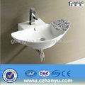 Salle de bains en céramique gt-5041a chine. vinity saniatry colorée. mur,- accroché évier salle de bain moderne