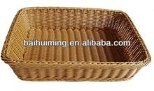 Bread Basket in Poly Wicker